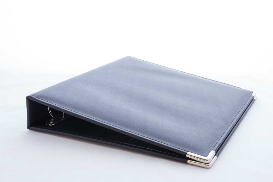 A4 leather ring binder