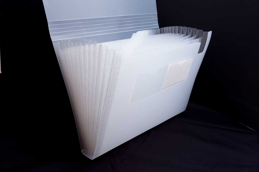 A4 poly concertina file