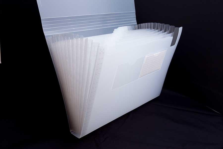 A4 poly concertina file