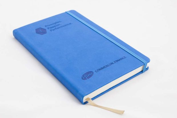 A5 embossed notebook
