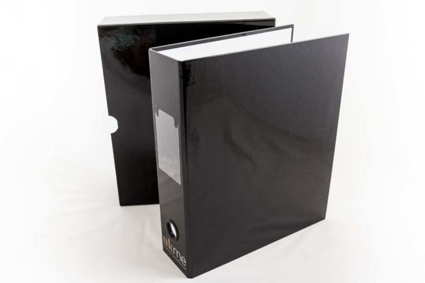 A4 ring binder and slipcase
