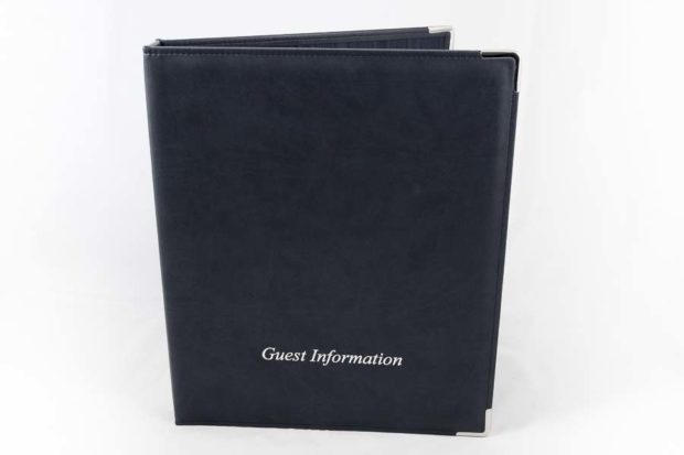 Guest information folder for hotels