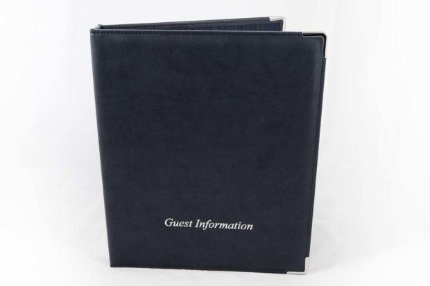 Guest information folder for hotels