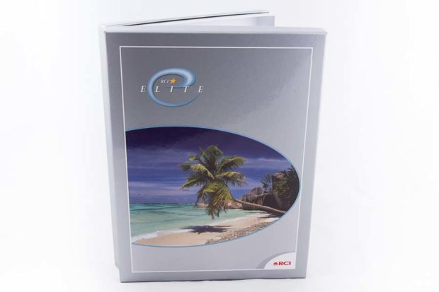 Paper over board hinged clamshell style box folder
