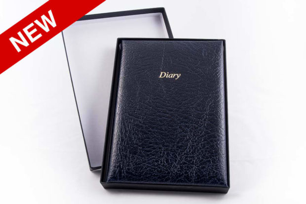 Real leather diaries now available