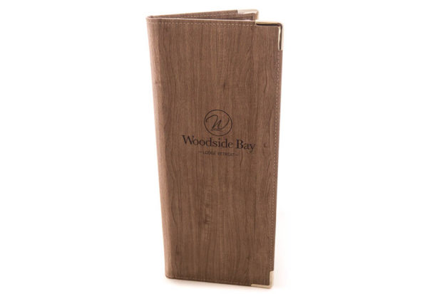 Narrow menu or wine list folder