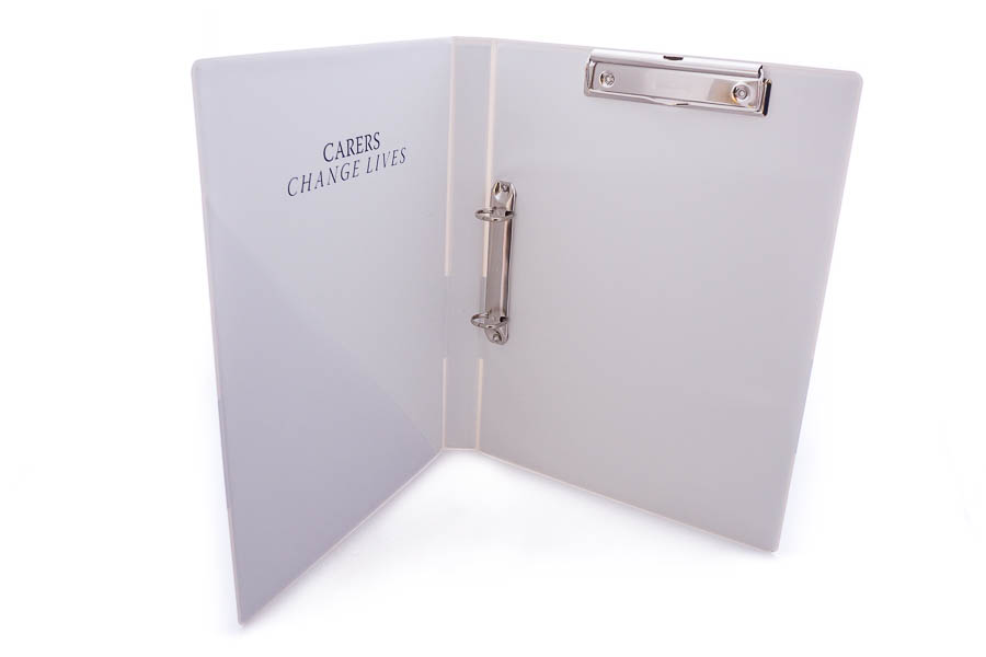 ring binder with clipboard mechanism