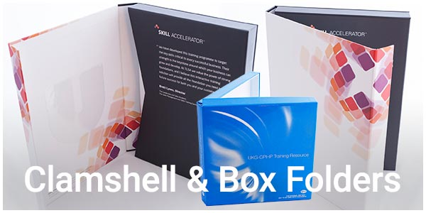 clamshell and box folders